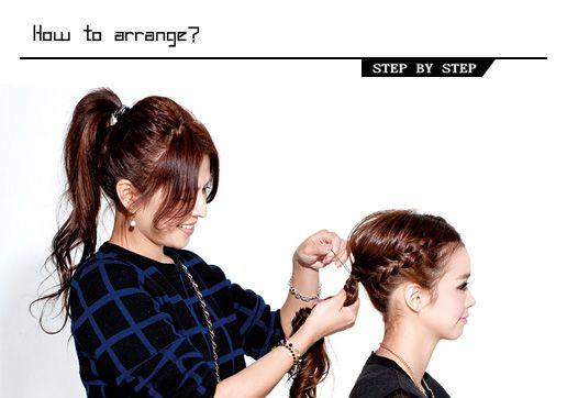 夏季清凉发型走起 2款编发马尾教程