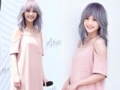 紫灰色头发图片 杨丞琳泰妍Irene真人示范