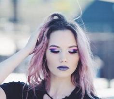 粉紫色染发发型图片 梦幻童话粉染发发型效果图