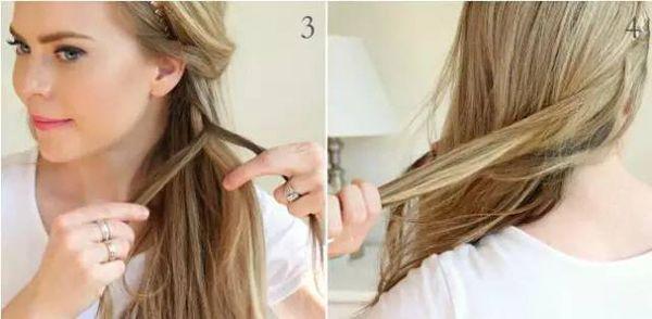 侧编发发型步骤 随性慵懒甜美优雅