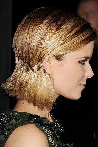 带发夹的发型 利用发夹打造美丽发型