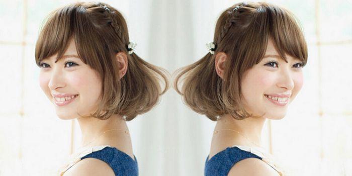 波波头短发怎么扎头发 甜美可爱的扎发教程