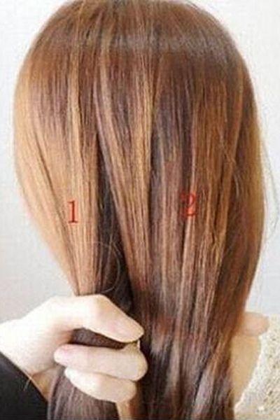 四股辫的编法图解步骤 简单的几个步骤重复