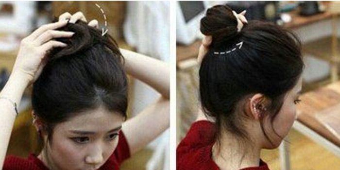 韩式露额头丸子头怎么扎 具体图解步骤来助你