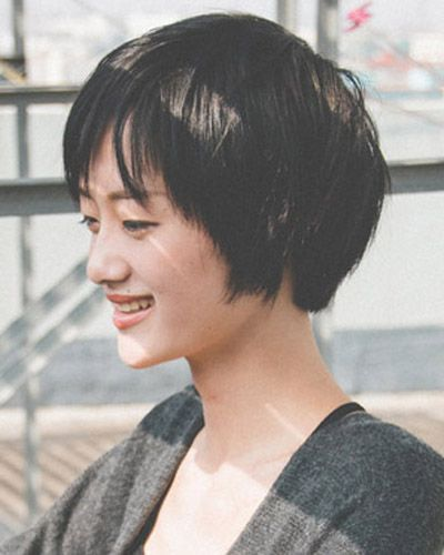 短发直发型图片 展现你的干练洒脱