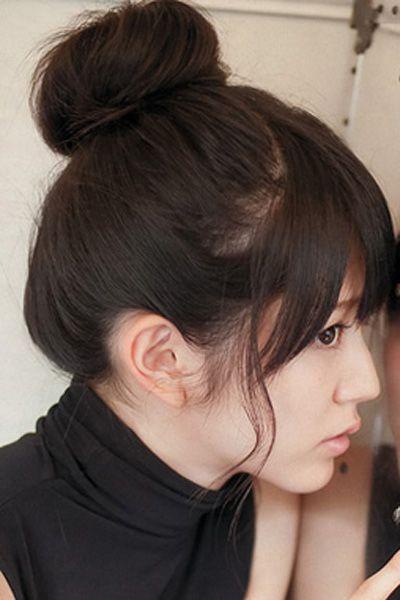 韩式花苞头发型图片 甜美清爽又减龄