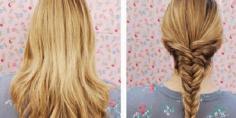 鱼骨辫的编法图解步骤 夏季女生最爱发型