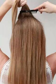 简单直发半扎发型扎法 长发mm必学发型