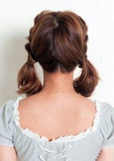 齐肩短发发型扎法 这样扎双马尾更好看