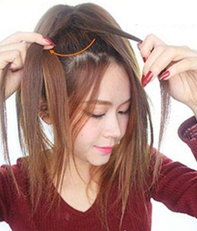 韩式花苞头的扎法 手把手教你扎韩式花苞头