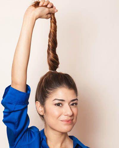 长发丸子头怎么扎好看 欧美个性丸子头扎法教程