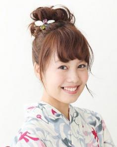 日系甜美丸子头扎法 高耸丸子头简单甜美