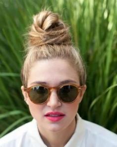 漂亮的丸子头扎法 法式丸子头清爽时尚
