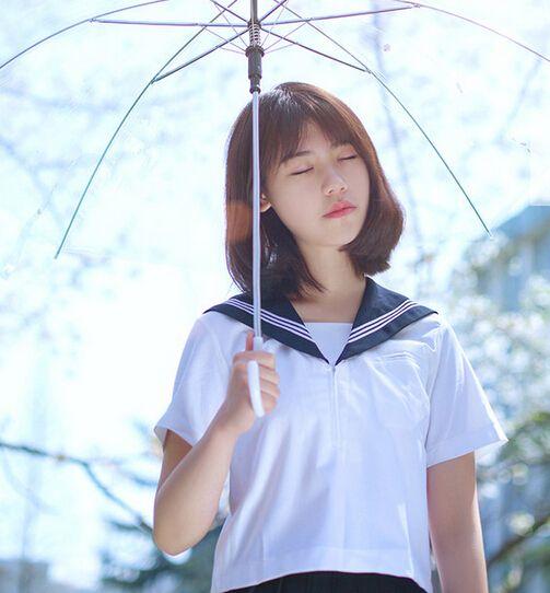 小清新的空气刘海短发美女都爱!
