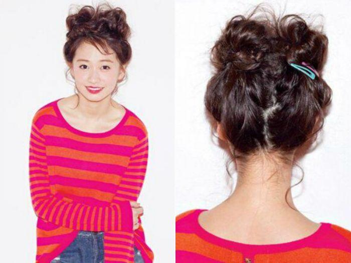 让你可爱值暴增的韩式花苞头的扎法