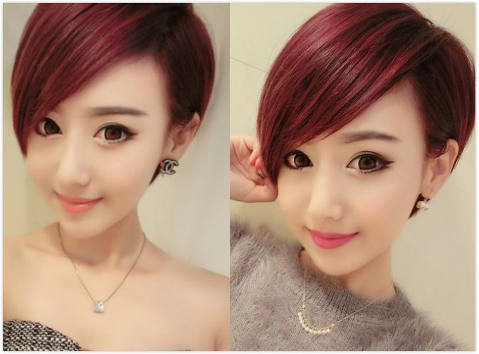 【图】女生斜庞克发型 个性帅气中性美