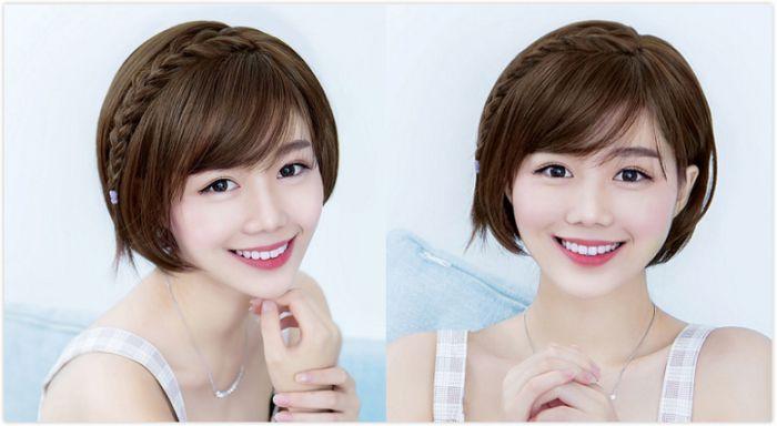 甜美又可爱的波波头短发扎发发型