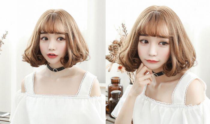 自然时尚短发梨花头发型为甜美造型加分