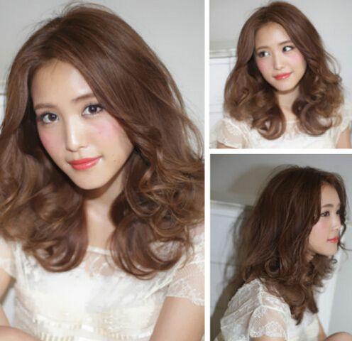 温婉甜美的荷叶头发型图片