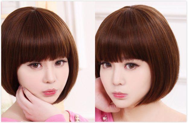 小女生蘑菇头短发发型图片