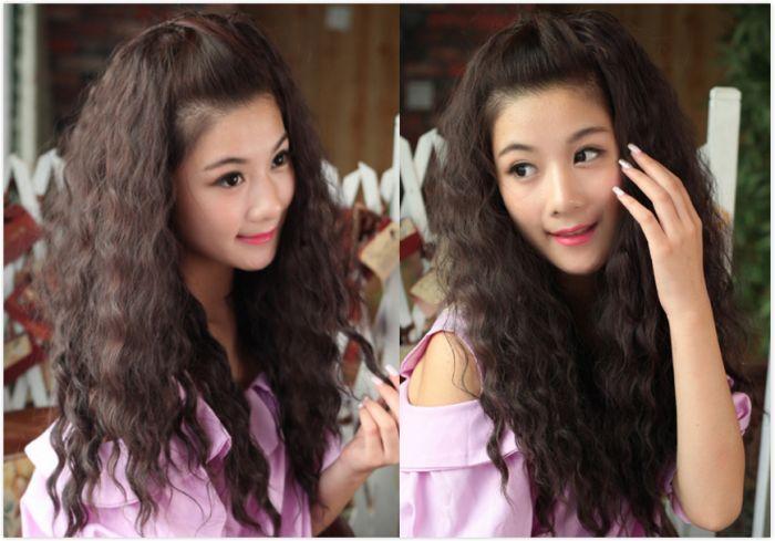 流行新款烫发:5款时尚修颜长发玉米烫发型