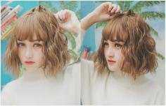 春节新潮短发:时尚丰盈玉米烫发型