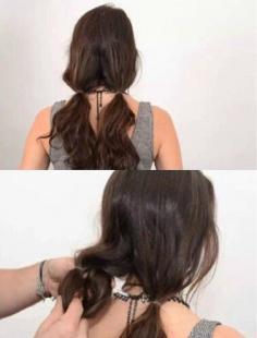 不剪发就变lob头的扎发教程图解