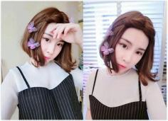 春节时尚首选气质中分短发发型