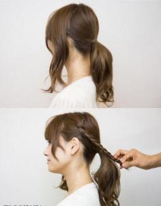 日系花苞头盘发让你甜美感瞬间飙升