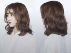 real有女神范的中长发水波纹发型图片