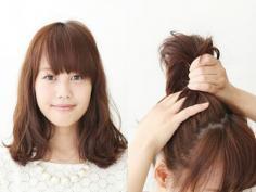 时尚girl必看的甜美减龄发型扎法