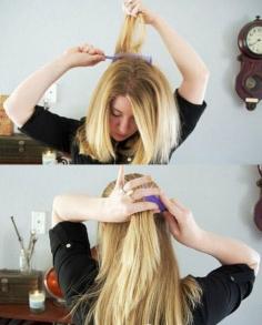 中长发就该来款韩式发型扎法!