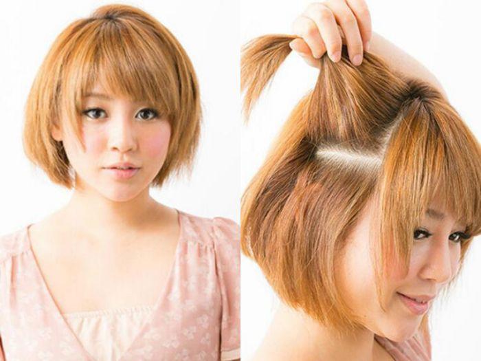齐耳短发怎么扎简单好看,时尚girl必get的短发扎法