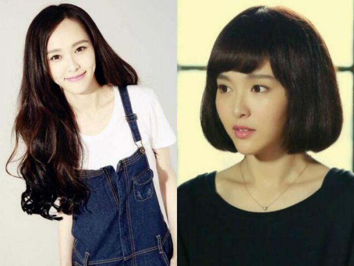 明星短发与丸子对比,杨幂赵丽颖唐嫣带头演绎发量少扎步骤头简单好看的长发图片