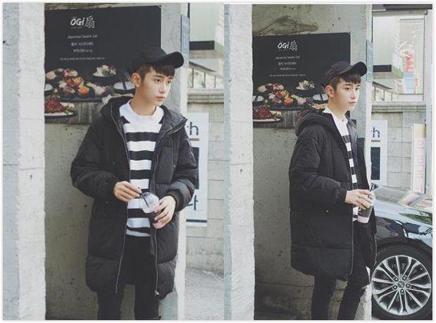 韩风十足的男生锅盖头发型图片