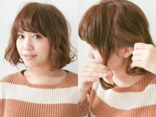 美发达人示范短梨花头发型怎么扎与众不同