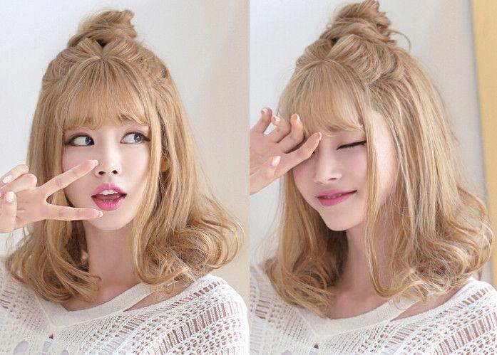 甜美清纯超实用的梨花头假发款式大推荐
