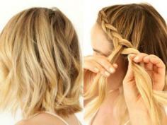 短烫发怎么打理好看,短烫发+编发造型最醒目