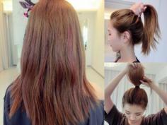 美美哒韩式发型扎法步骤图解