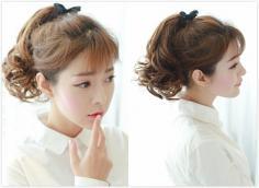 五款韩式空气刘海马尾辫扎发发型