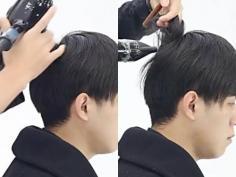 超详细的男生斜庞克发型打理教程