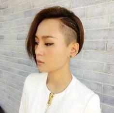 个性又帅气的女生朋克短发