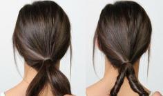 欧美感十足的冬季长发发型扎法