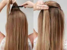 个性甜美春季长发发型扎法