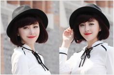 五款冬季流行斜刘海蘑菇头短发发型精选
