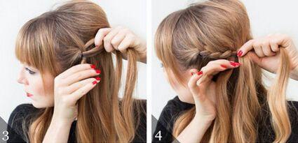 五分钟盘出浪漫迷人花苞头发型扎法步骤