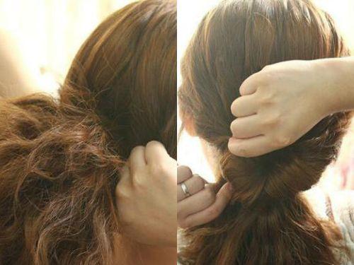教你轻松打造简约甜美的蛋卷头发型编发