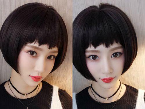 清新动人春季短发发型图片