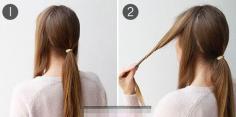 马尾扎发不简单!冬季长发发型扎法教程图解