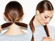 简约优雅冬季发型长发直发扎法